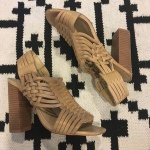 Steve Madden woven brown heels